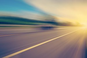 abstract empty asphalt blurry road and sunlight with space
